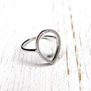 LAST 1 // Sterling Silver Teardrop Ring